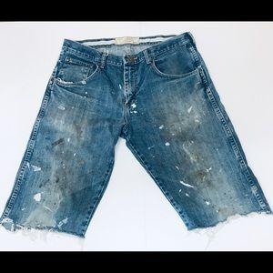 Cabela's Indigo Blues Distressed cut-off Shorts